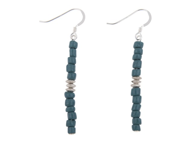 Aztec Teal Earrings