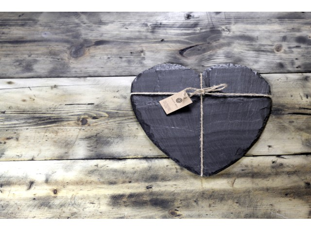 Welsh slate cheese board - heart