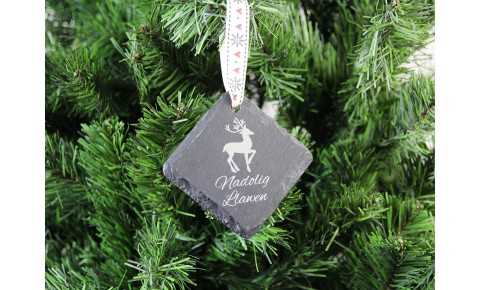 Welsh Slate Christmas Decoration - Reindeer