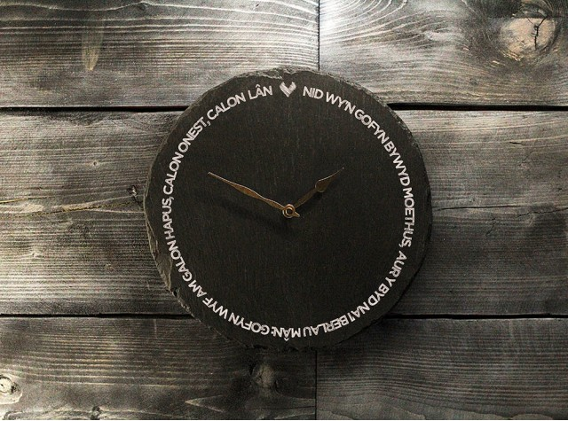 Welsh Slate Clock - Calon Lan