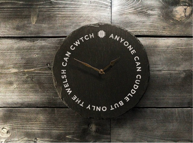 Welsh Slate Clock - Cuddle