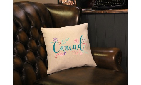 Floral Cariad Cushion