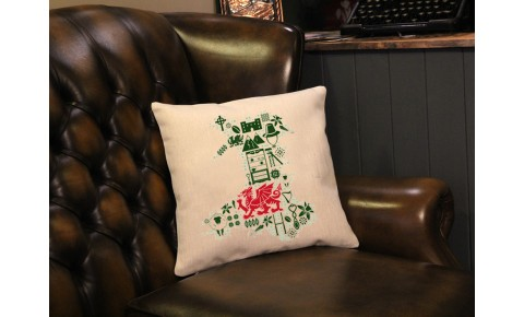 Welsh Map Cushion