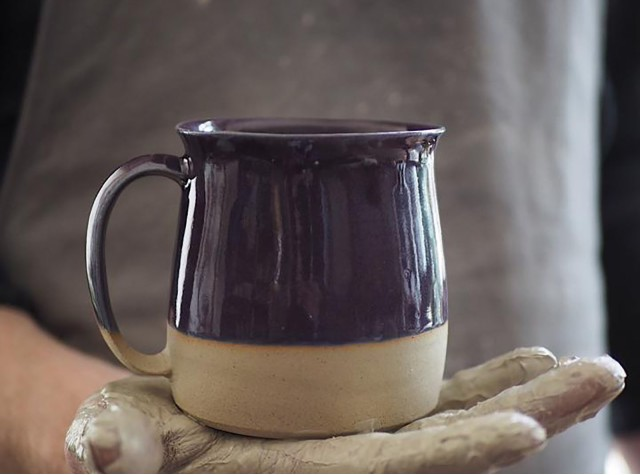 Dipped Purple Mug