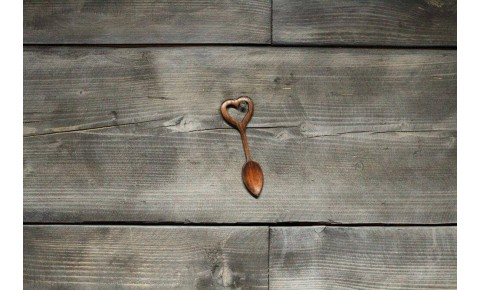 Mini Handmade Love Spoon - Heart