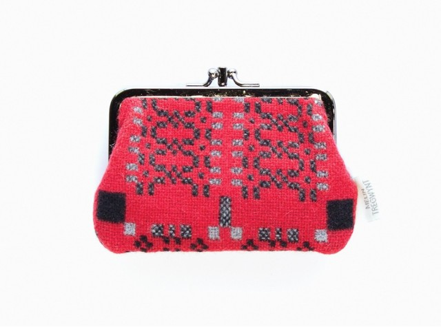 Melin Tregwynt - Medium Knot Garden Jemima Red Welsh Double Purse