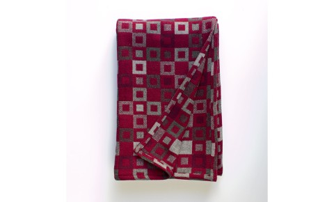 Melin Tregwynt - Madison Berry Welsh Blanket