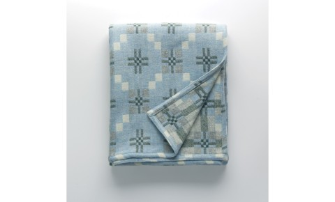 Melin Tregwynt - St David's Cross Bluestone Welsh Blanket