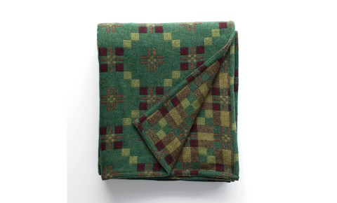 Melin Tregwynt - St David's Cross Pine Welsh Blanket