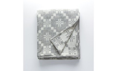 Melin Tregwynt - St David's Cross Silver Welsh Blanket