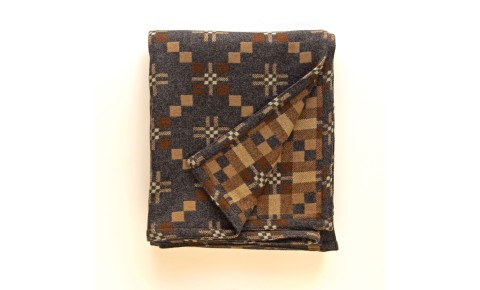 Melin Tregwynt - St David's Cross Slate Welsh Blanket