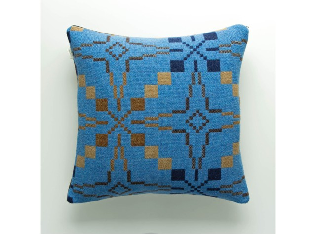 Melin Tregwynt - Vintage Star Blue Welsh Cushion