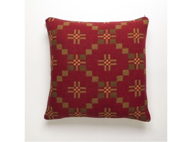 Melin Tregwynt - St David's Cross Chestnut Welsh Cushion