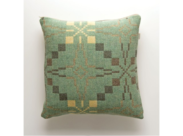 Melin Tregwynt - Vintage Star Mint Welsh Cushion
