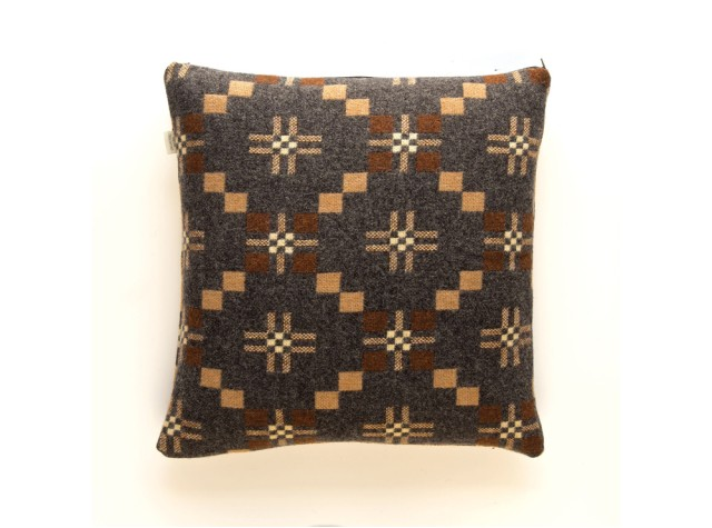 Melin Tregwynt - St David's Cross Slate Welsh Cushion