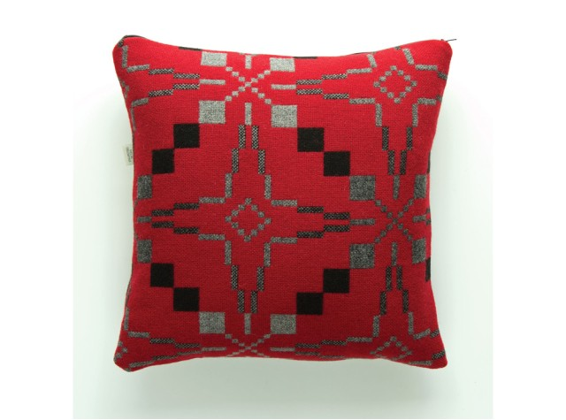 Melin Tregwynt - Vintage Star Jemima Red Welsh Cushion