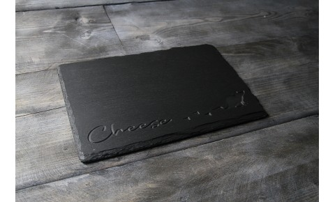 Welsh Slate cheese board - Deep Cheese Mouse