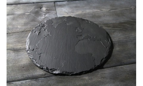 Welsh Slate cheese board -  Round World