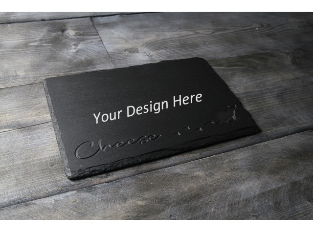 Personalised Welsh slate deep engraved cheese board - Deep Cheese Mouse