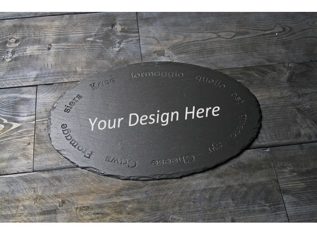 Personalised Welsh slate Oval Cheeseboard - Cheese Names