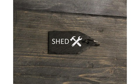 Personalised Welsh Slate Key Fob