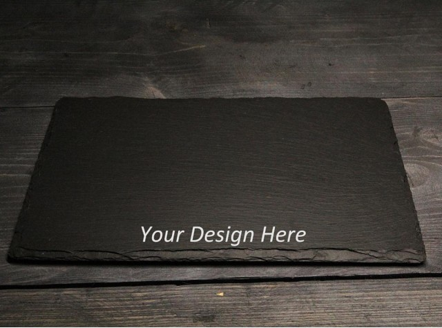 Personalised Rectangular Welsh Slate Placemats  - set of 4