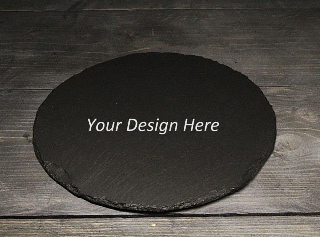 Personalised Round Welsh Slate Placemat - set of 4