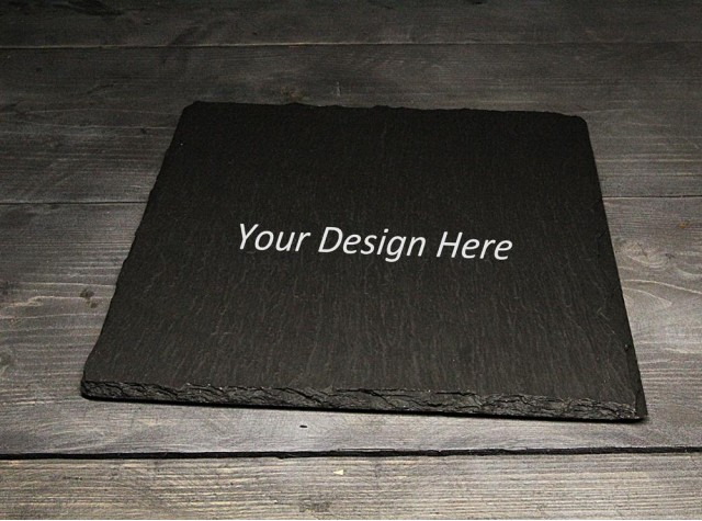 Personalised Square Welsh slate Placemat / Cheese board