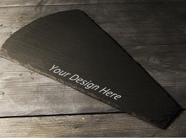 Personalised Welsh slate wedge cheese board.