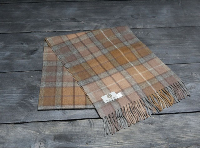 Natural Buchanan Welsh Woollen Scarf