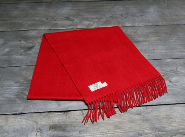 Red Welsh Woollen Scarf
