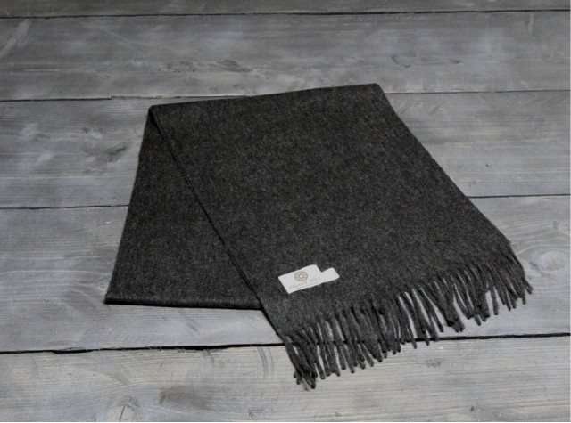 Charcoal Welsh Woolen Scarf