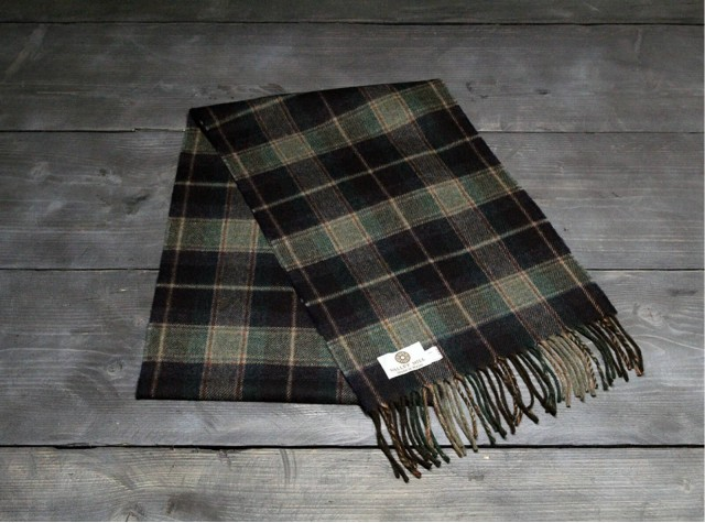 Country Navy Welsh Woolen Scarf