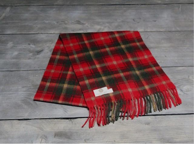 Dark Maple Welsh Woolen Scarf