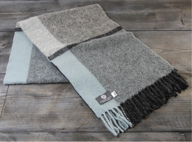 Duck Egg Welsh Woolen Scarf