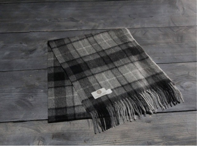 Grey Buchanan Welsh Woolen Scarf
