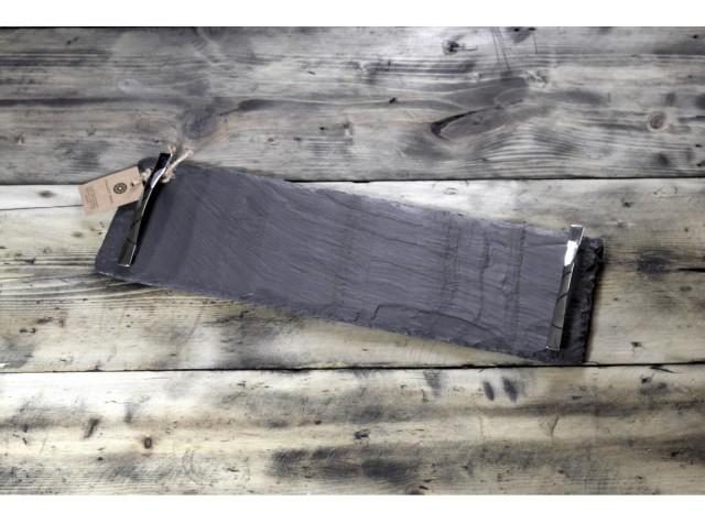 Medium Welsh Slate Tray - With Chrome Handles
