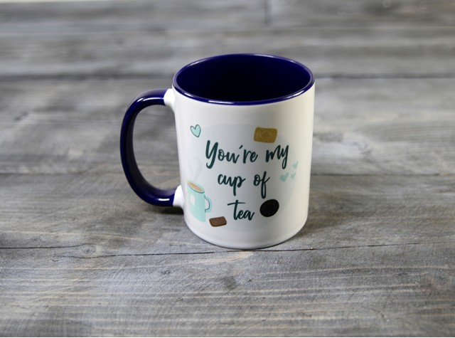 Cup Of Tea Blue Mug