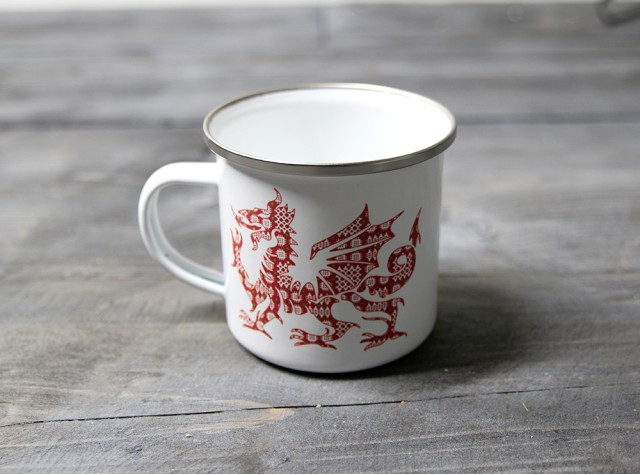 Tapestry Dragon Enamel Mug