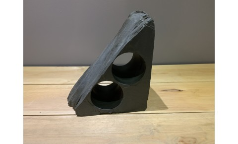 2 Hole Welsh Slate Wine Rack