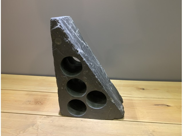 4 Hole Welsh Slate Wine Rack