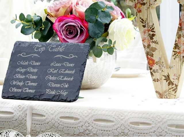 Welsh Slate Table Planner - Landscape