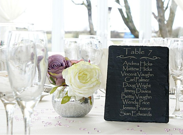 Welsh Slate Table Planner - Portrait