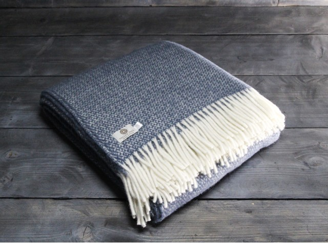 Illusion Blue Slate Welsh Blanket