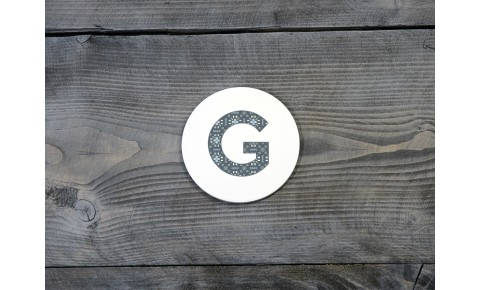 Welsh Tapestry Ceramic Coaster 'G'