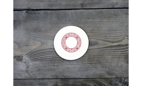 Welsh Tapestry Ceramic Coaster 'O'