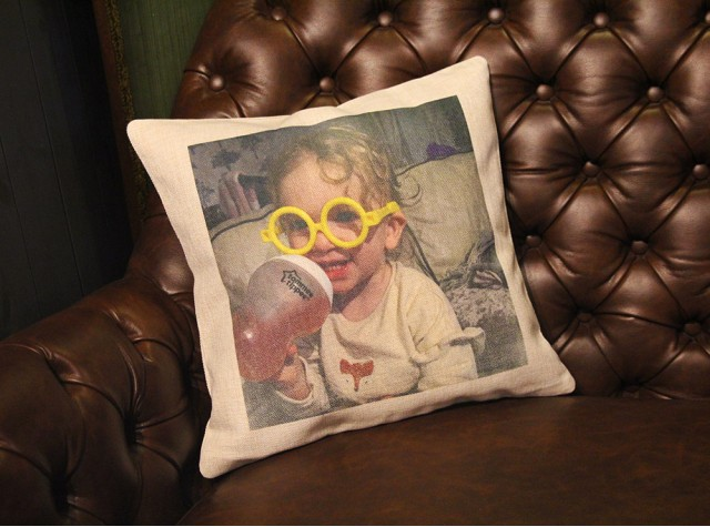 Personalised Linen Effect Cushion