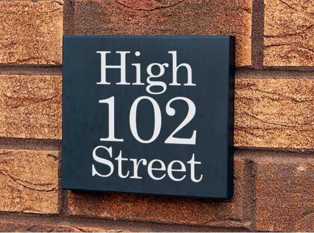 Welsh Slate House Sign - 300mm x 300mm x 20mm