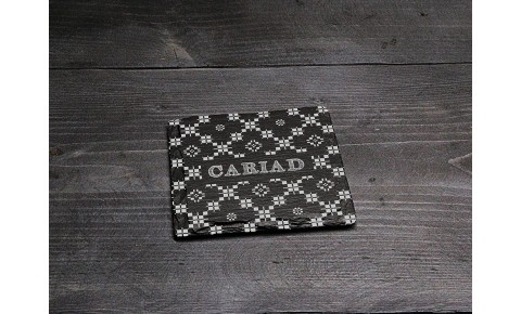 Square Welsh Slate Coaster - 'Cariad'