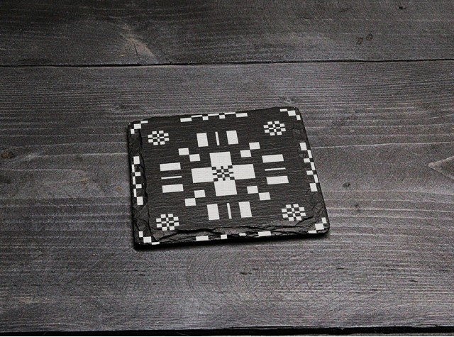 Square Welsh Slate Coaster - 'Tapestry 1'